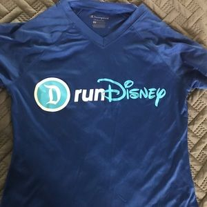 RunDisney blue short sleeve top